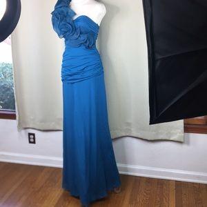 6️⃣beautiful full length gown bridesmaids dress